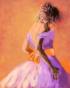 Woman in Lilac - acrylic by ©Elena Checchi (via ioarte.org)