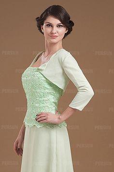 Green 3/4 Length Sleeves Chiffon Wrap [WWCJ0134]- AU$ 43.65 - DressesMallAU.com