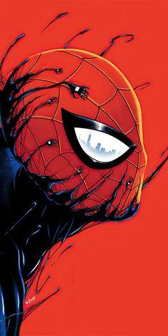 Black Spiderman, Spiderman Art, Amazing Spiderman, Spiderman Drawing, Spiderman Pictures, Superhero Poster, Marvel Drawings, Marvel Comics Art, Avengers Wallpaper