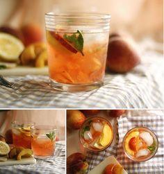 Wedding signature drink? BourbonPeach Smash Cocktail  Ingredients for 1 cocktail: Vodka or bourbon, 1.5 oz Candied ginger, 1/2 slice Half of a fresh peach, pitted Fresh lemon, 1 slice Lemon Seltzer, 3 oz Peach Soda, 1.5 oz Peach Sparkling Wine, 1.5 oz Mint leaves Ice Cubes, 3-4