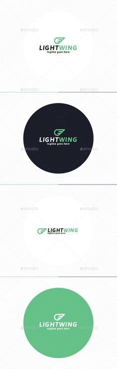 Light Wing Logo by shaoleen • Fully Editable Logo • CMYK • AI, EPS, PSD, PNG files • Easy to Change Color and Text