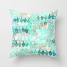 SUMMER+MERMAID+Throw+Pillow+by+Monika+Strigel+-+$20.00