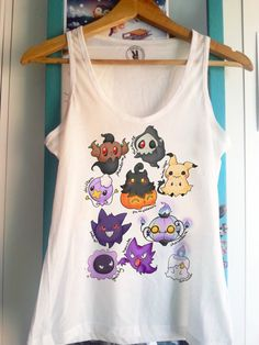 e8706fe6e5656 Ghost type pokemon chibi - Tank Top Sleeveless t-shirt