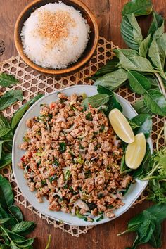 Pork Larb is a Southeast Asian meat salad from Laos that only takes minutes to make. If you've never had this quick and easy pork larb, you HAVE to try it!