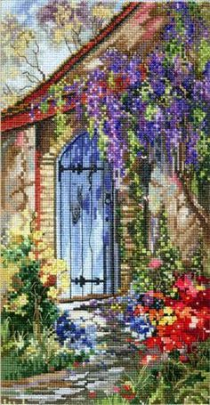 Pegasus Originals Quiet Garden Counted Cross Stitch Kit by Marty Bell