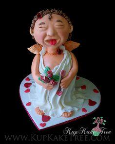 3D Cupid cake for Valentine's Day  by KupKake Tree, via Flickr