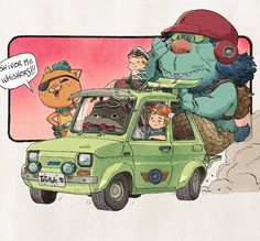 Where the wild kids are no3. How do you say? Akira who? #wherethewildthingsare #totoro #fiat #octonauts #dragonball #car #digitalart