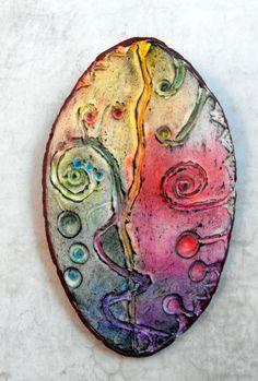 Spirals - Polymer Clay Pendant - MargitBoehmer