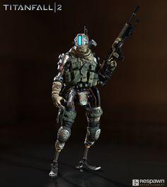 Pilot character for Titanfall 2   Art Director: Joel Emslie  Concept Artist: Hethe Srodawa  Weapon Artists: Wonjae Kim