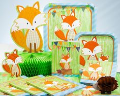 Fox Birthday Party Supplies and Decorations - PartyPail
