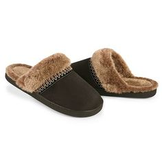 Isotoner Faux-Fur Clog Slippers - Obviously these are more for winter, but I have these slippers and I love them! So Comfortable!