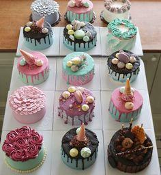 Creative Cake Decorating, Creative Cakes, Decorating Ideas, Pretty Birthday Cakes, Pretty Cakes, Mini Cakes, Cupcake Cakes, Rodjendanske Torte, Buttercream Cake Designs