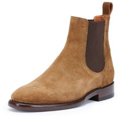 Frye Weston Suede Chelsea Boot ($398) ❤ liked on Polyvore featuring men's fashion, men's shoes, men's boots, chestnut, mens suede chelsea boots, mens suede shoes, frye mens boots, mens suede boots and frye mens shoes