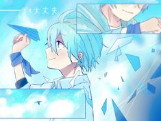 Anime Kunst, Anime Art, Blue Hair Anime Boy, Animation Schools, Chibi Boy, Fluffy Hair, Anime Poses Reference, Hunter Anime, Ensemble Stars