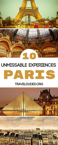 10 Paris experiences that every traveler needs to have at least once in their life. Picnic at the Eiffel Tour, catch a show at the Moulin Rouge, delve into the catacombs, spend a day at Disneyland Paris and so much more! Bucket list travel in France. | Travel Dudes Travel Community #Paris #France