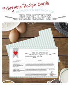 Free Printable Recipe Card and Dividers