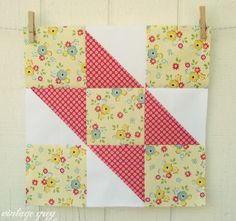 vintage grey:: Quilt Sampler Quilt Along at Donna's Lavender Nest:: Block 1  http://donnaslavendernest.blogspot.com