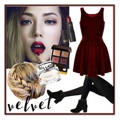 Crushing It: Summer to Fall Velvet by cupkait98 on Polyvore featuring polyvore fashion style Steve Madden Tom Ford Lipstick Queen Gucci clothing contest velvet