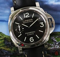 """Time For Stormy Weather!'Officine #Panerai 44mm Luminor 8 Days S Series, 2017Ref#: PAM 510 ($4,875.00 USD)http://www.elementintime.com/Officine-Panerai-Luminor-Marina-PAM-510-Stainless-Steel-8-Days-44mm-Black-Dial"