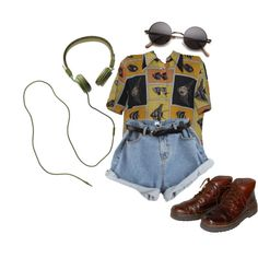 Untitled #7 by meh-okay on Polyvore featuring Rockport, Madewell, indie and 90s
