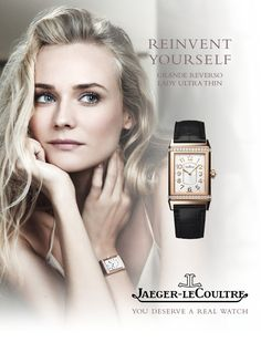 #German #model & #actress Diane Kruger for Jaeger-LeCoultre spring/summer 2015 watch campaign