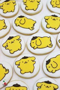 Cute Pom Pom Purin Icing Cookies~