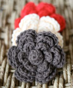 Crochet Flower Clips Fall Hair Bows Girls by DaisyCottageDesigns, $20.00