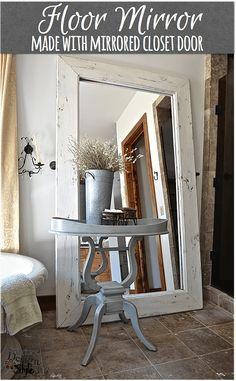 Floor mirror in white #floormirror #DIY http://countrydesignstyle.com