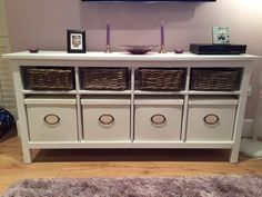 Ikea Hemnes Console Table With Matching Storage Boxesbaskets For ...