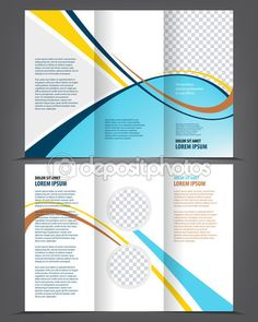 magazine flyer brochure cover layout design print template