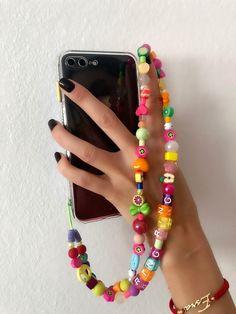 Funky Jewelry, Cute Jewelry, Jewelry Crafts, Beaded Jewelry, Beaded Bracelets, Iphone Bracelet, Evil Eye Bracelet, Handmade Rings, Tutti Frutti