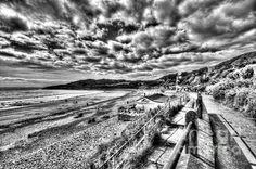 Nice black and white beach scene by Steve Purnell