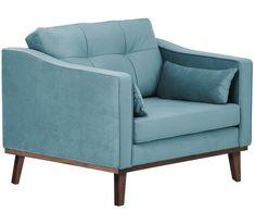 Fotel z aksamitu Alva, Tapicerka: turkusowy Nogi: drewno bukowe, barwione
