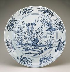 Dish, early 15th century, Ming dynasty. Probably Yongle reign. Porcelain with cobalt under transparent colorless glaze. H: 9.5 W: 68.0 D: 68.0 cm, Smithsonian Institution