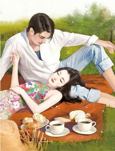 I wanna go with u this kind of place where no one can disturb us Anime Couples Drawings, Couple Drawings, Cute Anime Couples, Art Drawings, Korean Art, Asian Art, Cute Couple Art, Couple Illustration, Couple Cartoon