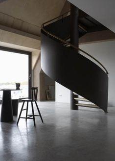 Black Iron Spiral Staircase Remodelista