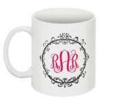 Custom monogram mugs