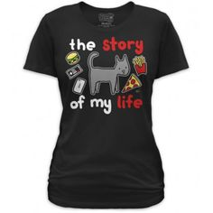 Goodie Two Sleeves T-shirt - The Story Of My Life - Cat