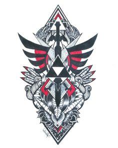 MM ideas – – The Legend of Zelda – egame The Legend Of Zelda, Legend Of Zelda Tattoos, Gamer Tattoos, Anime Tattoos, Music Tattoos, Body Art Tattoos, Tatoos, Zelda Logo, Wolf Tattoo Design