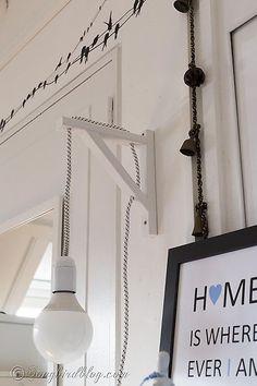 modern diy lamp, home decor, lighting