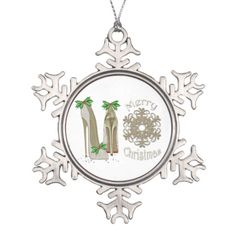 Fun Christmas Stiletto Snowflake Ornament