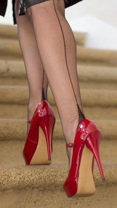 high picture Retro platform fuck heels Sexy
