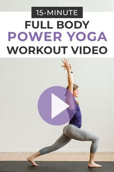 Sweat and sculpt at home with this guided POWER YOGA workout video! No equipment needed for this full body, athletic yoga flow!