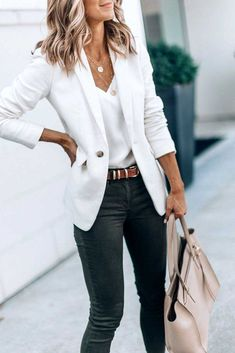 45 Top summer work outfits ideas for - Work Outfits Women Simple Work Outfits, Best Casual Outfits, Spring Work Outfits, Professional Outfits, Work Casual, Office Outfits Women Casual, Casual Attire For Women, Office Attire For Women, Office Wear