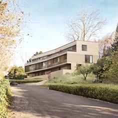 Exterior visuals for a multi-family house in Zollikon designed by HDPF Architects Country Roads, 1, Exterior, Mansions, Architecture, House Styles, Design, Home Decor, Projects
