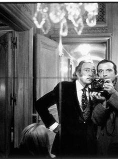 Salvador Dali and David Bailey, 1972.