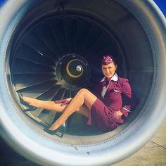 wouldn't want any other job ❤️✈️ #lovemyjob #flightattendant #stewardess #airplane #uniform #germanwings #lufthansa #crewlife #crewlife #crewview #lifestyle #smile #happy #love #me #naples #italy #hannover #haj #gwi #köln #hamburg #barcelona #mallorca #ibiza #miami #paris #angleairways