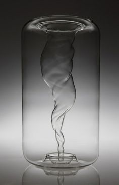 Tornado Vase: A beautiful hand blown vase