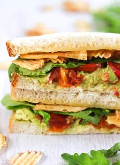 Epic avocado sandwich - stacked high with heaps of amazing ingredients. A new favourite!