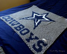 Make or custom order this Blue Star Cowboys Baby Blanket and support your Dallas Cowboys team. Make or custom order this Blue Star Cowboys Baby Blanket and support your Dallas Cowboys team. Graph Crochet, Baby Afghan Crochet, Baby Afghans, Crochet Blanket Patterns, Crochet Stitches, Free Crochet, Dallas Cowboys Blanket, Football Blanket, Dallas Cowboys Decor